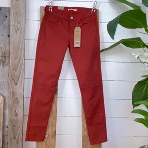 NWT Levi's 710 Supper Skinny Mid Rise Jeans